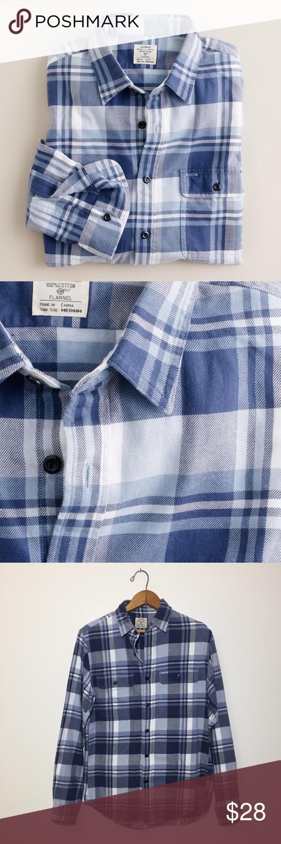 Flannel shirt xs  J Crew Vintage Flannel Shirt in Stuart Plaid  Cotton style