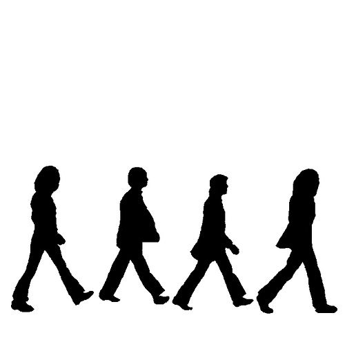 beatles silhouettes in 2018 60th birthday pinterest beatles