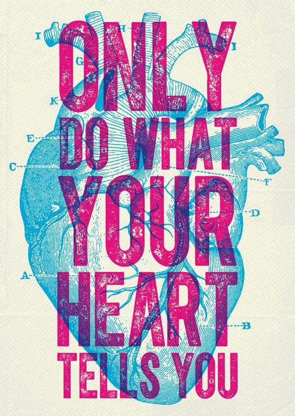 Orgão coração-  Design do cartaz Overprint