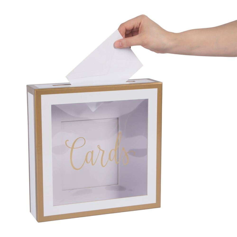 Simple Card Box with Gold Trim  Oriental Trading  Card box