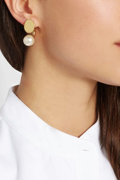 Chloé Darcey Gold-tone And Faux Pearl Earrings kCfC0q