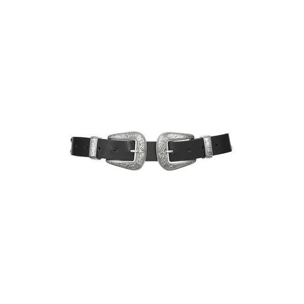 Topshop Pu New Double Buckle Belt (1.615 RUB) Liked On