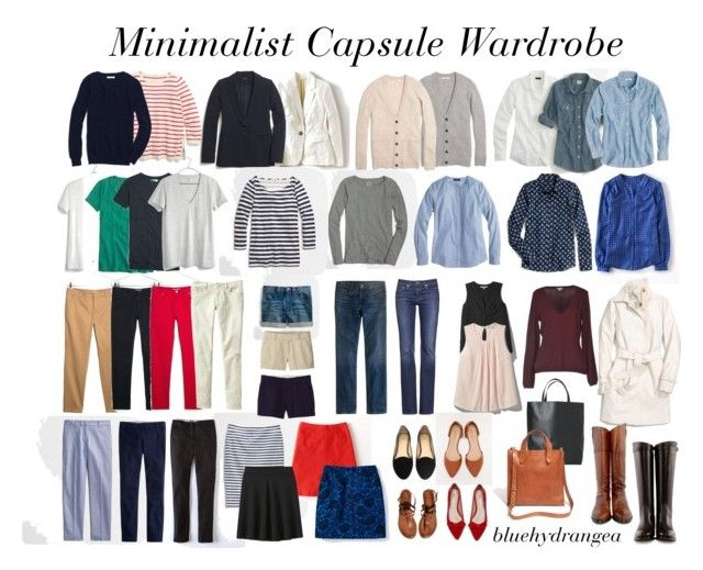 """""""Minimalist Capsule Wardrobe"""" by bluehydrangea ❤ liked on Polyvore featuring Madewell, Boden, Tory Burch, J.Crew, MANGO, Coach, Uniqlo, Gap, Daniel Rainn and French Connection"""