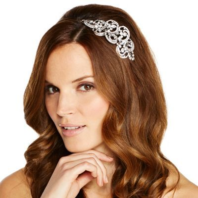 Jon Richard Crystal Embellished Swirl Motif Headband Wedding Hairstyles Wedding Headband Wedding Hair Accessories