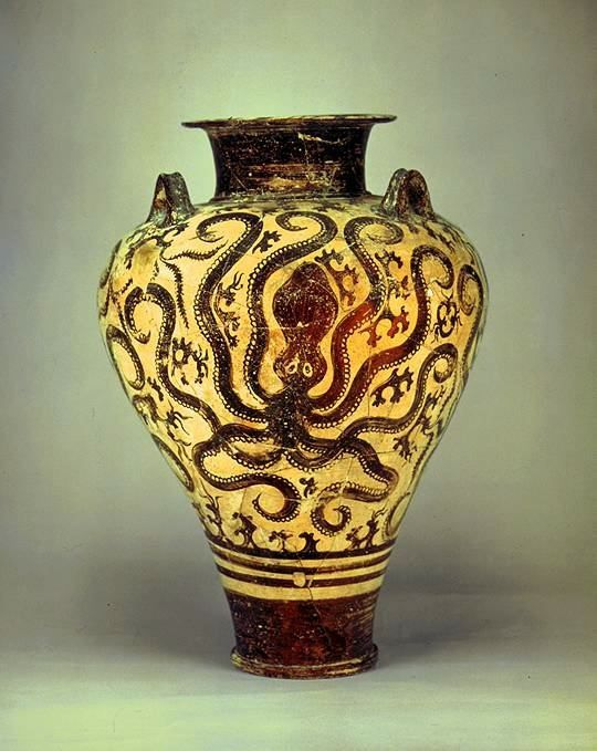 Mycenaean pottery. This is probably my favorite depiction ...