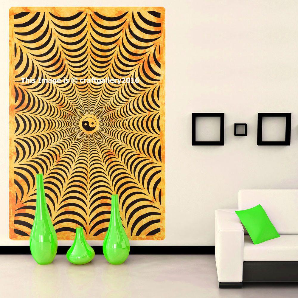 Yin Yang Tapestry Wall Hanging Gypsy Bedspread Home Decor mandala ...