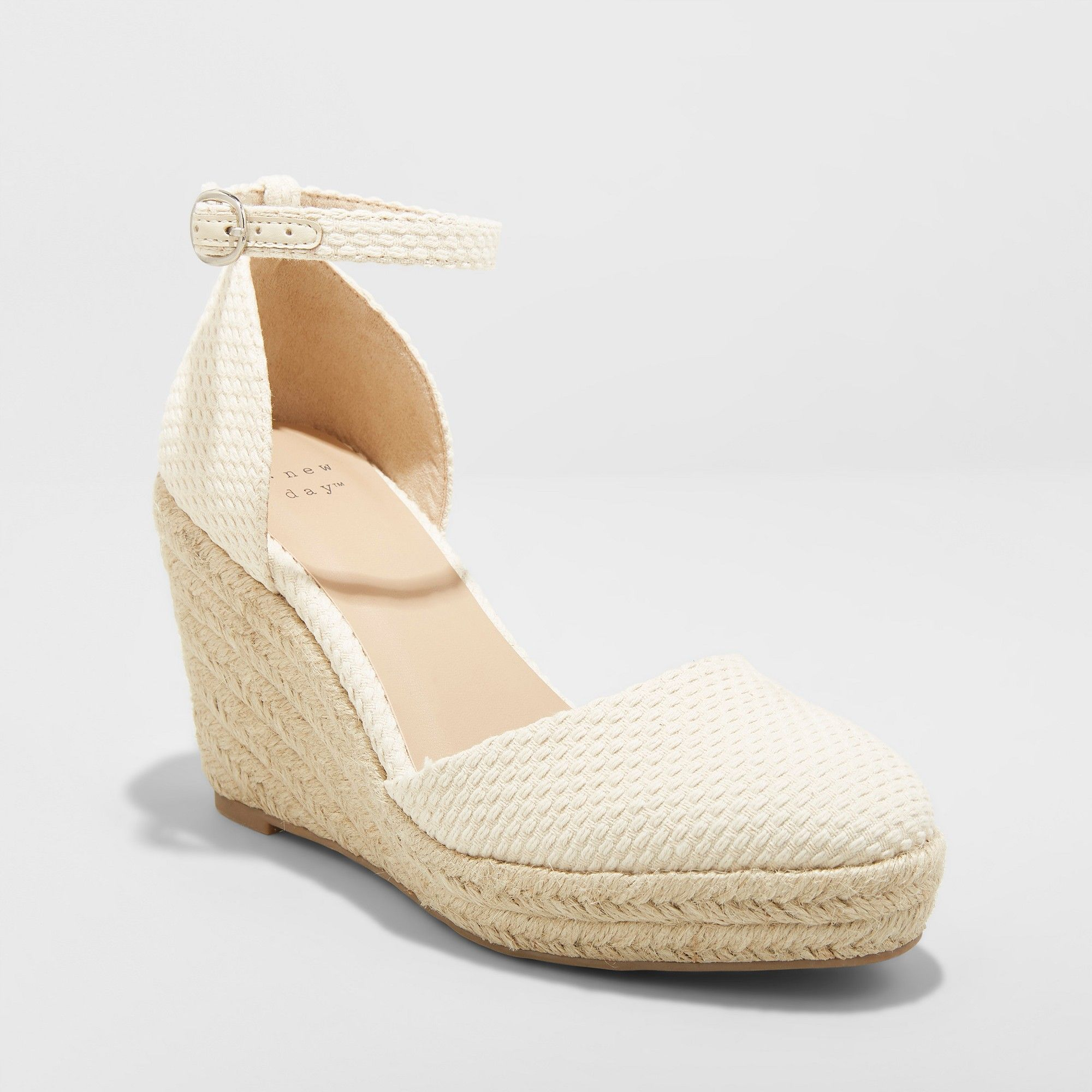 59ce0dbbb1 Women's Olivia D'Orsay Closed Toe Espadrille Wedge - A New Day Cream  (Ivory) 9