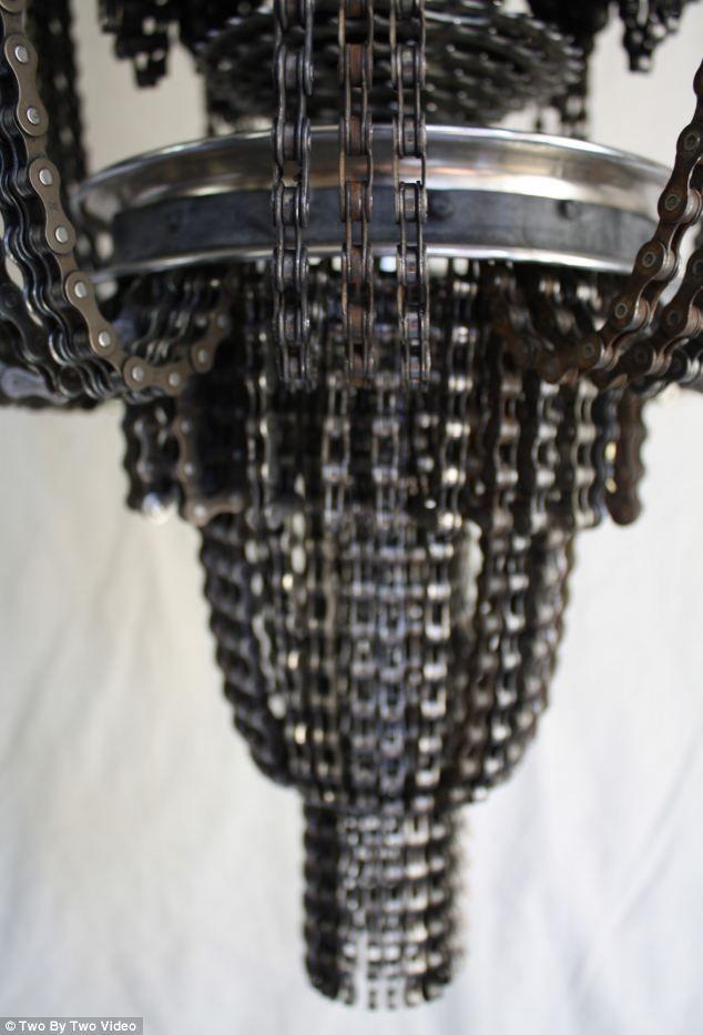 Now you too can look like a big wheel with a chandelier made from now you too can look like a big wheel with a chandelier made from motor bike parts aloadofball Choice Image