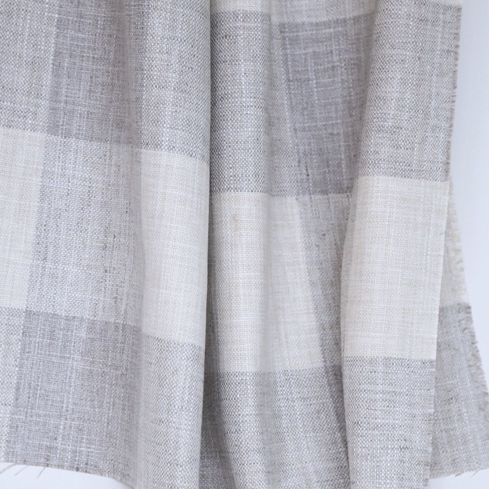 Here s just a sample of the buffalo check fabric options from fabric - A Beachy Buffalo Check Plaid Fabric In Warm Grey With Cream Suitable For Upholstery