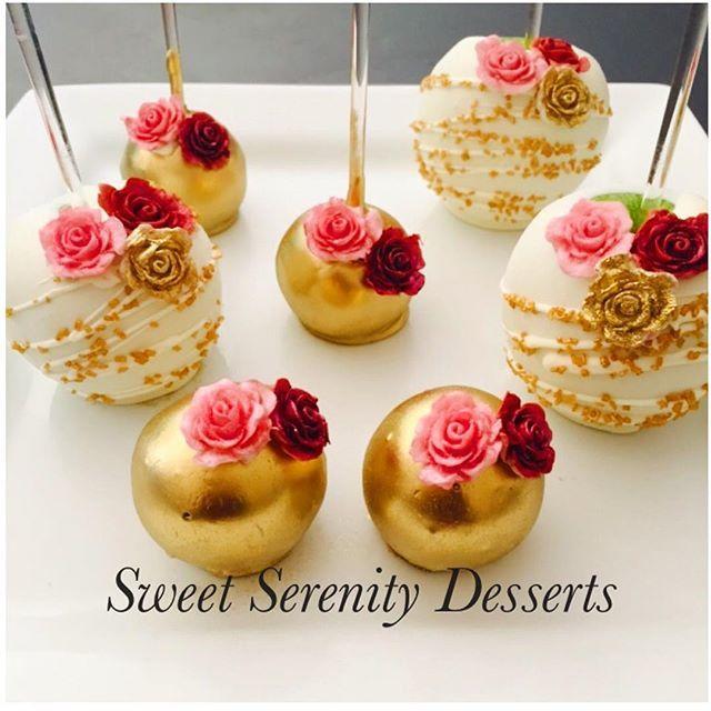 Beautiful vintage mini apples, cake pops and cake balls.. #dessertdiva #designer…