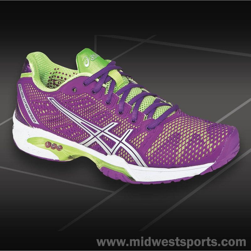 Asics Gel Solution Speed 2 Tennis Shoe Womens GrapeSharp