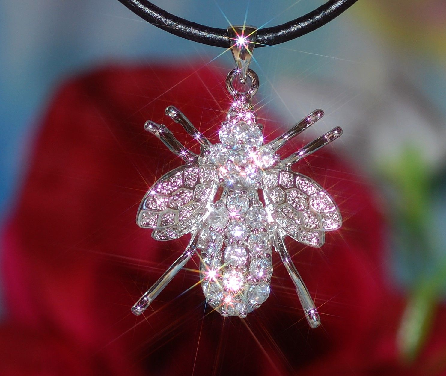 Fly pendant with created Diamond $19.99
