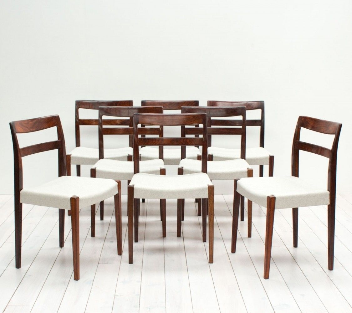 Set Of 8 Dinner Chairs By Nils Jonsson For Hugo Troeds 1960s Dinner Chair Chair Dining Chairs Set of 8 dining chairs