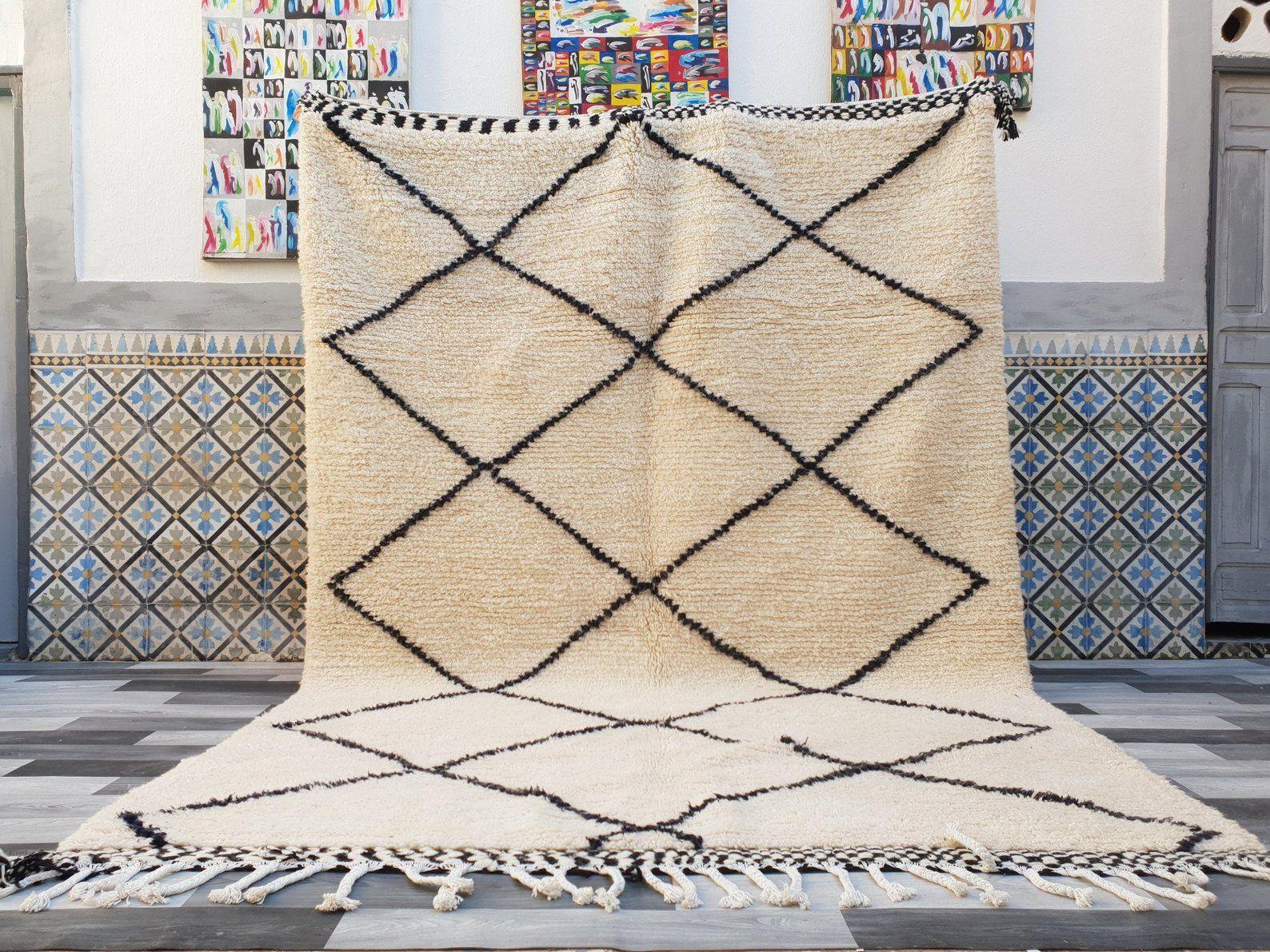 Beni Ourain Teppich 7 Ft X 97 Ft Marokkanischen Wolle Teppich Etsy Teppich Marokkanischer Teppich Wollteppich