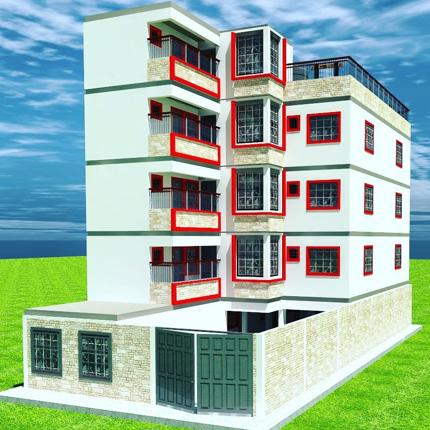 5 story apartment house plan in 2020 House plans, Best