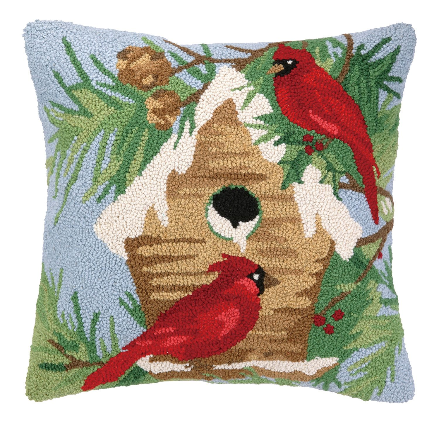 Winter birds pillow products pinterest products