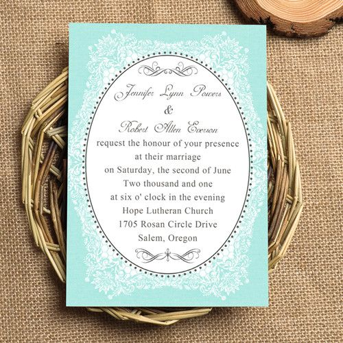 Tiffany Wedding Invitations: Cheap Vintage Tiffany Blue Wedding Invitations EWI336 As