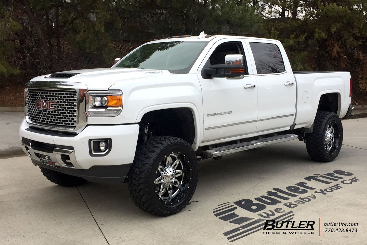 Gmc denali with 22in fuel lethal wheels toyo mt tires 6in pro comp lift