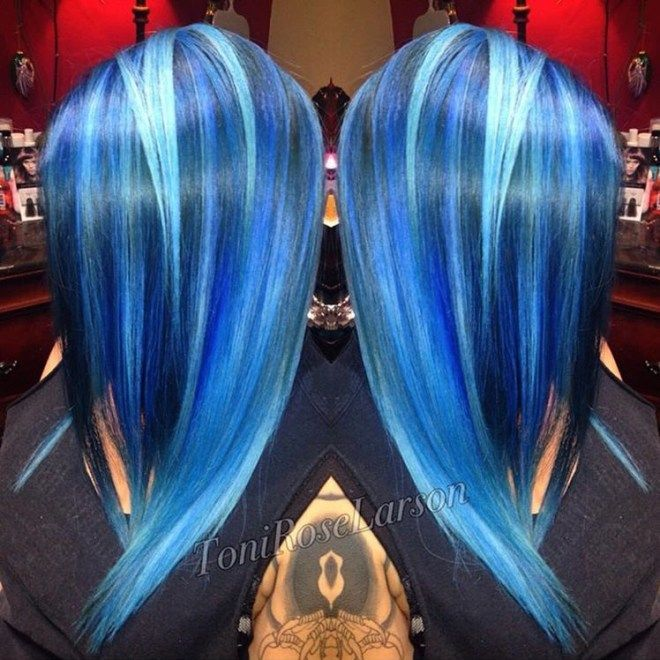 41 schöne blaue Haare Designs bei CherryCherryBeaut … – – Haar Mode