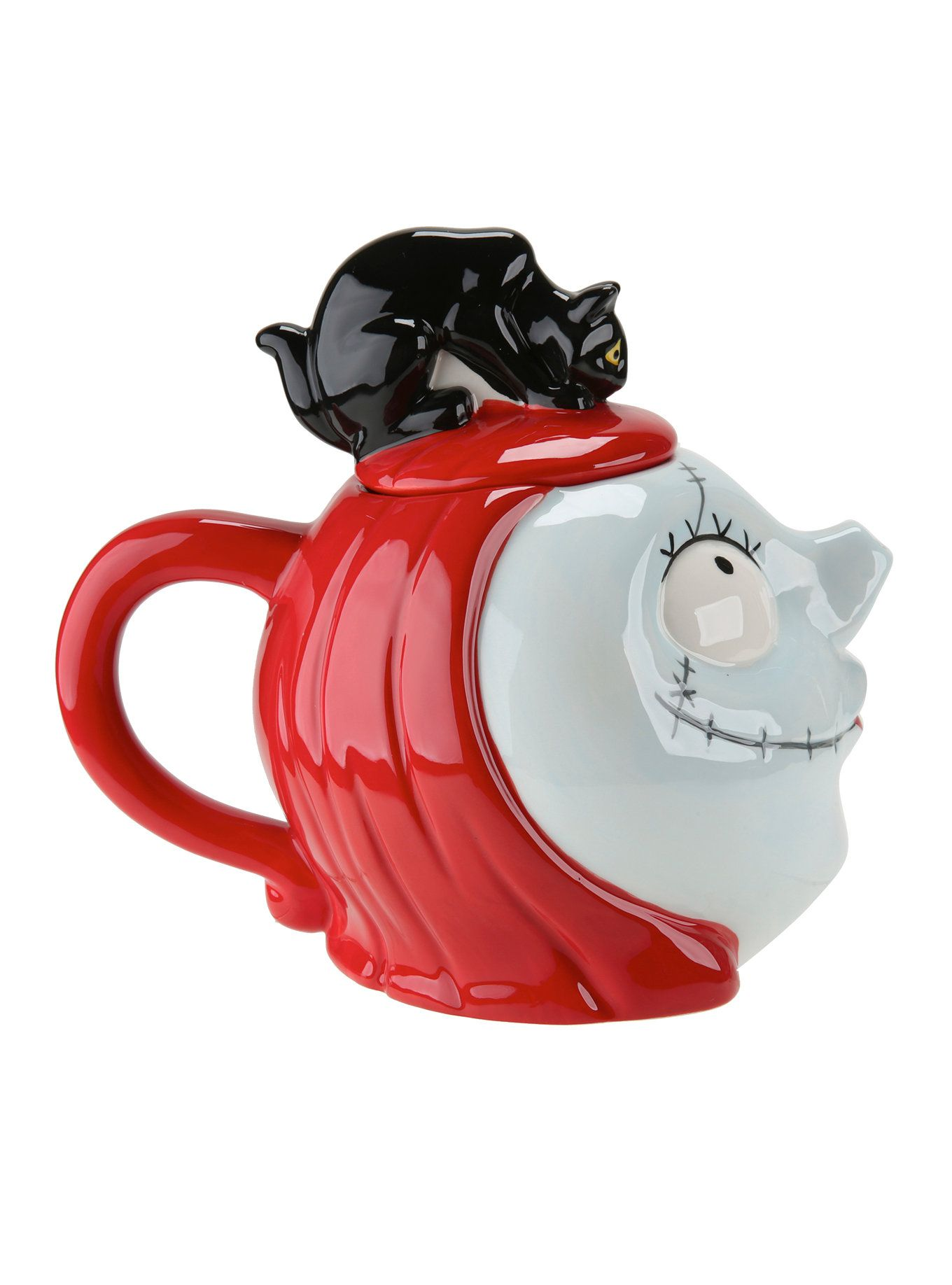 The Nightmare Before Christmas Sally & Black Cat Teapot | Black cats ...