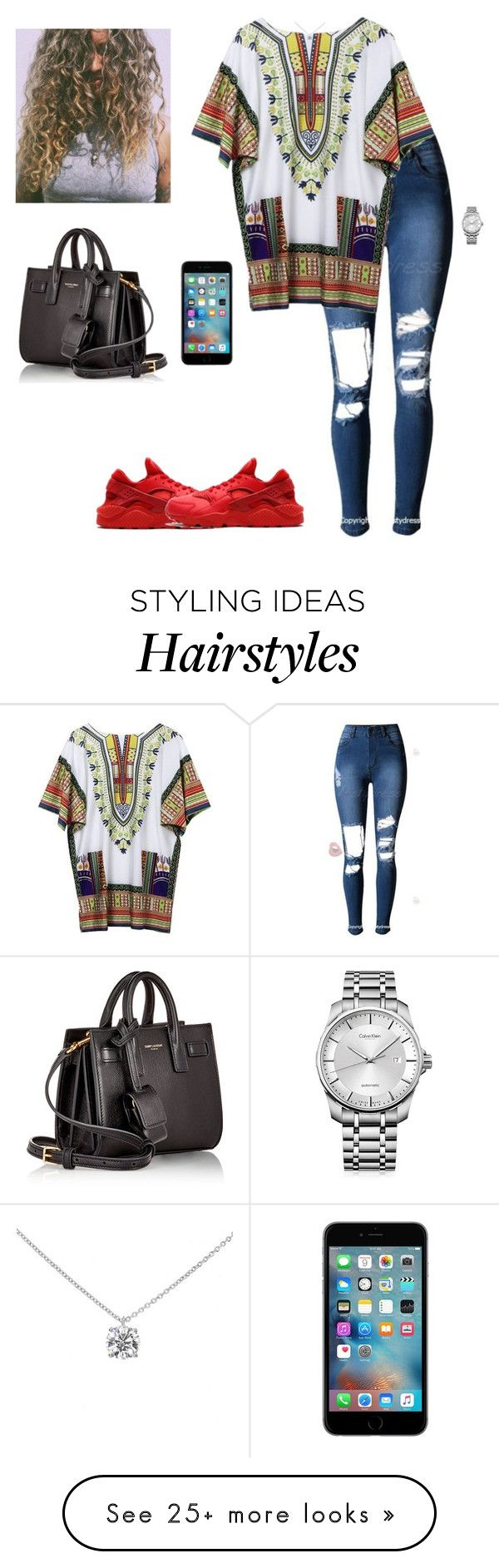 """Untitled #307"" by kristian321 on Polyvore featuring Yves Saint Laurent, NIKE, Calvin Klein and Tiffany & Co."
