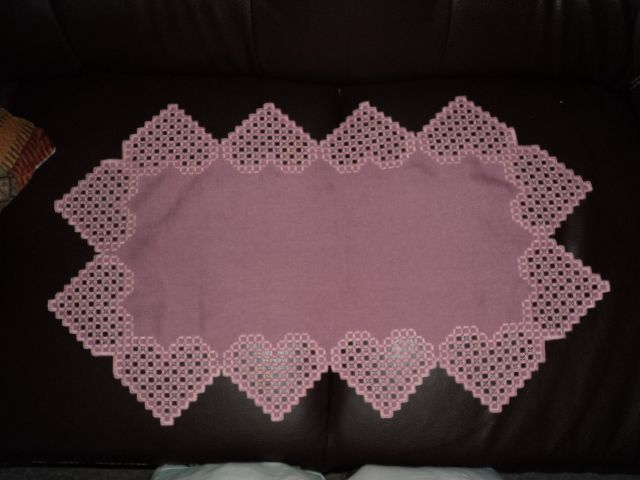 Completed first try at hardanger...table runner.