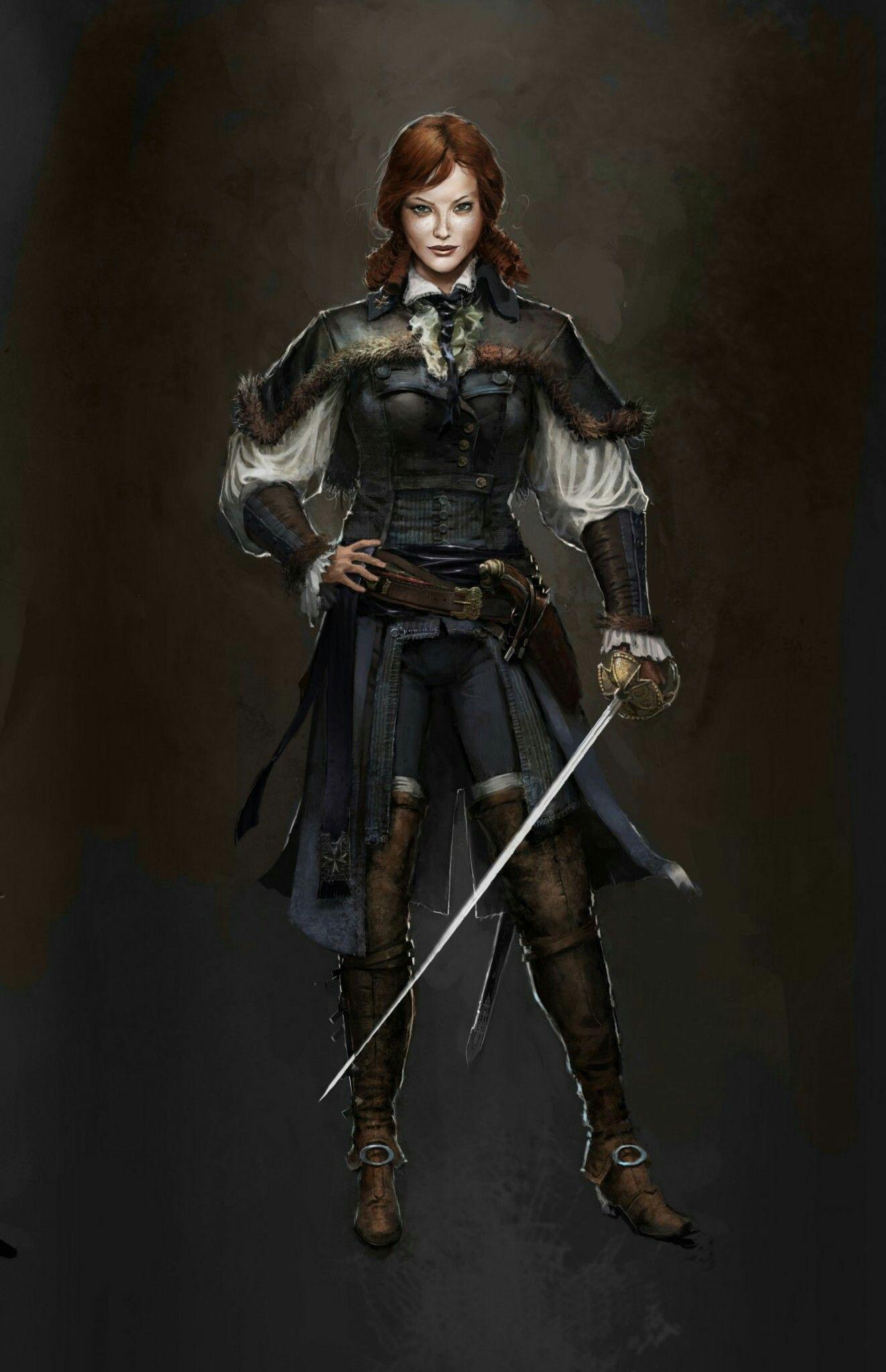 Elise De Laserre Concept Art Assassin Creed Unity Assassins