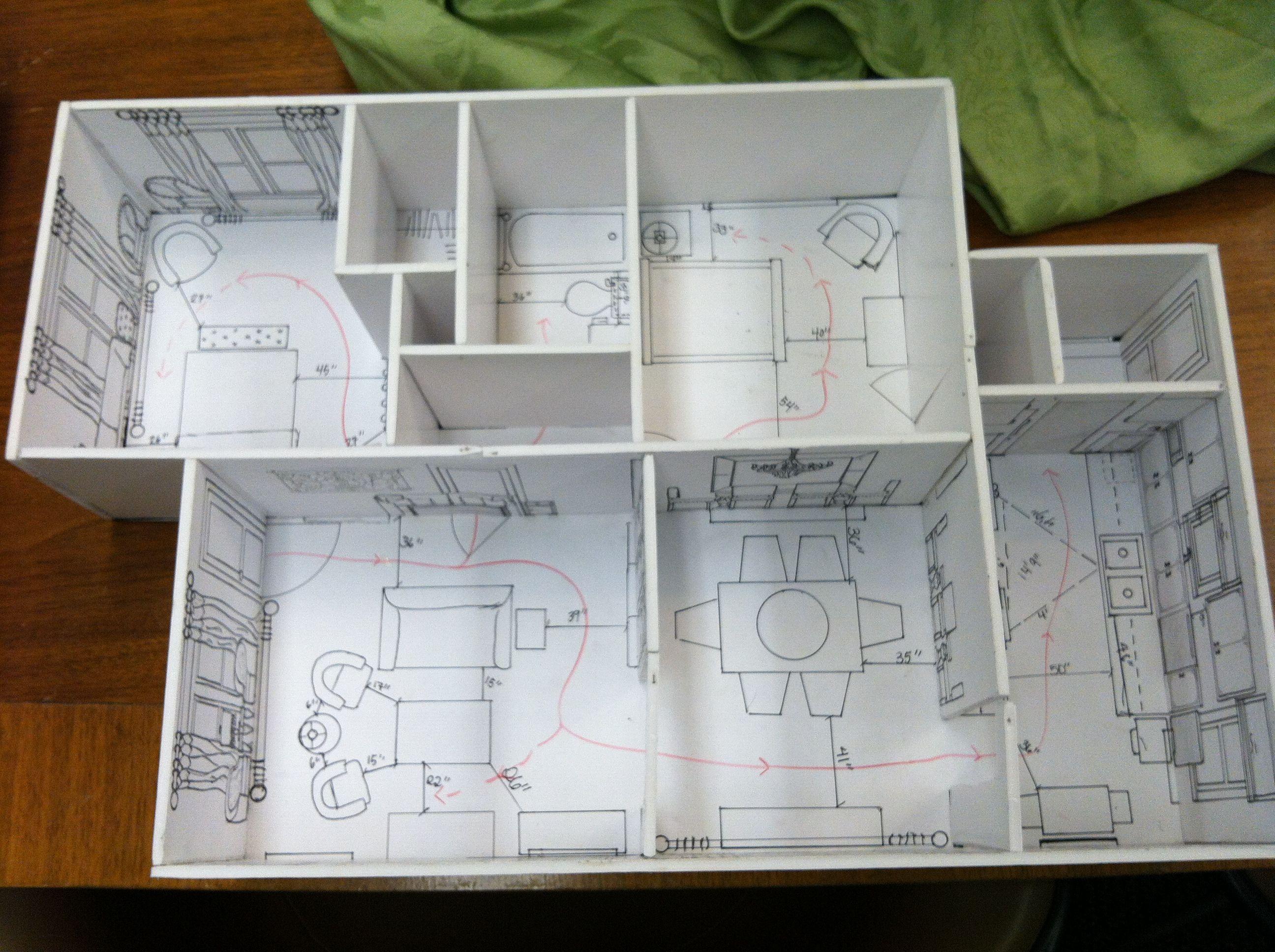 Space Planning Model Interior Design Presentation Interior Design Drawings Interior Design Art