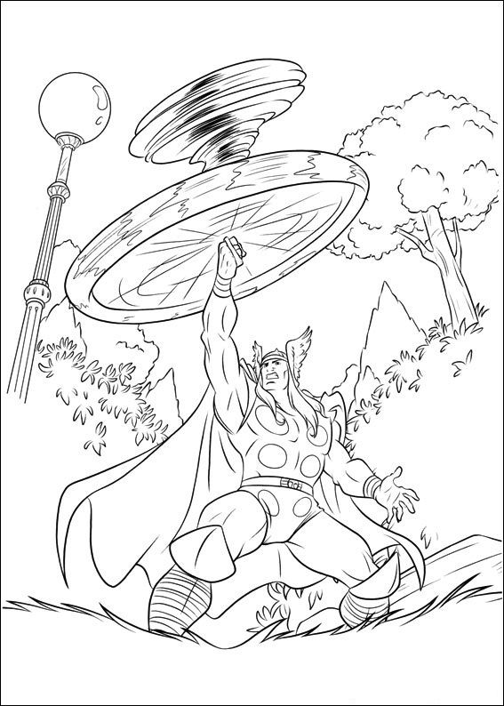 Free Printable Thor Coloring Pages For Kids   Thor, Color sheets and ...
