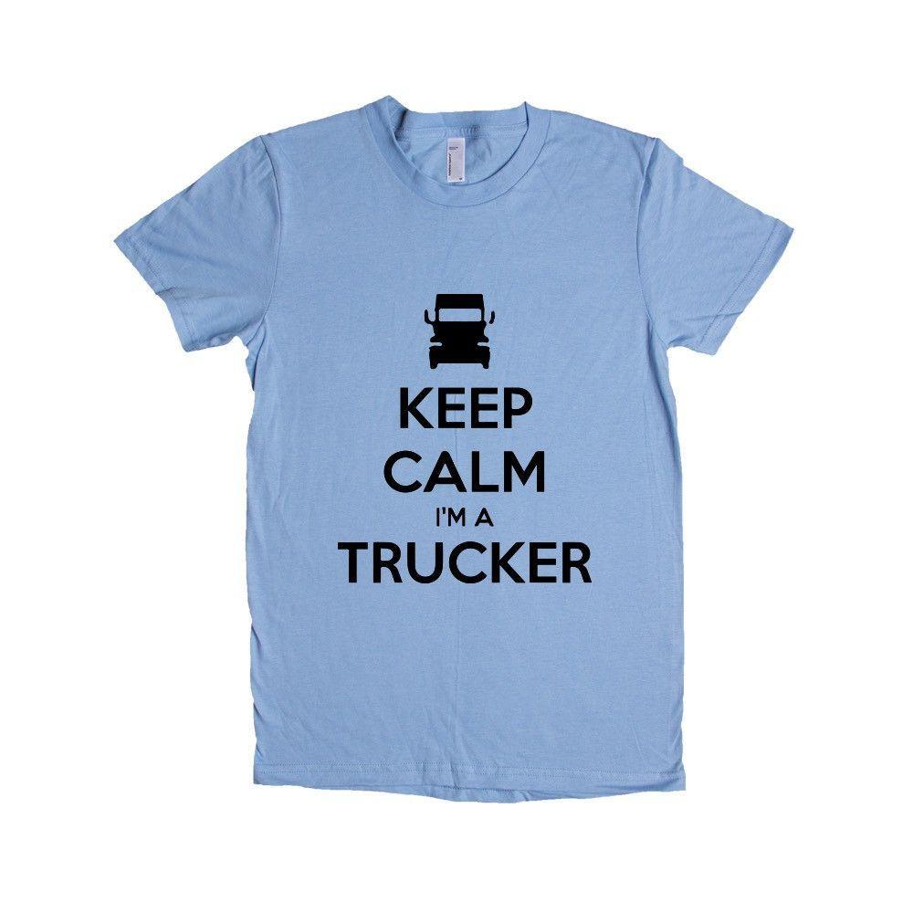Keep Calm I'm A Trucker Truck Driver Job Jobs Career Careers Profession Car Cars Trucks Automobiles SGAL2 Women's Shirt