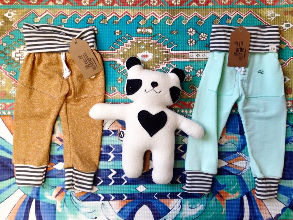 Baby Yoga Mats, MY MENAGERIE PANDA FRIEND, and stipe pants in two colors (sizes 0-4T). #TheLittleLife #babyyoga #babyyogamat