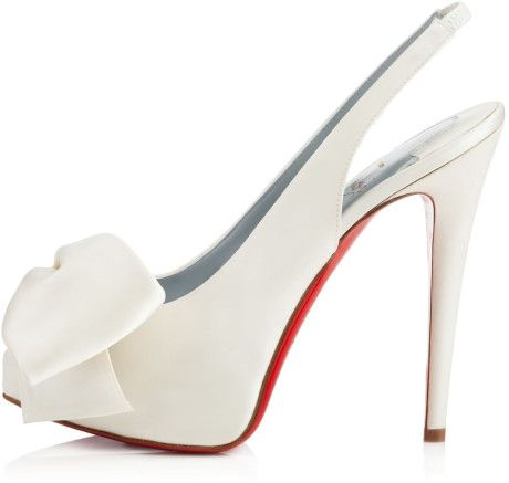 Christian Louboutin Red Vendome Sling Crepe Satin
