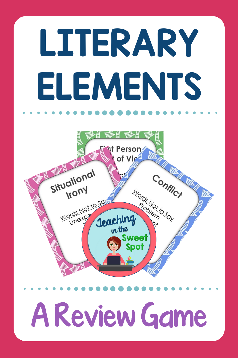 Literary Elements Review Game Editable Literary elements