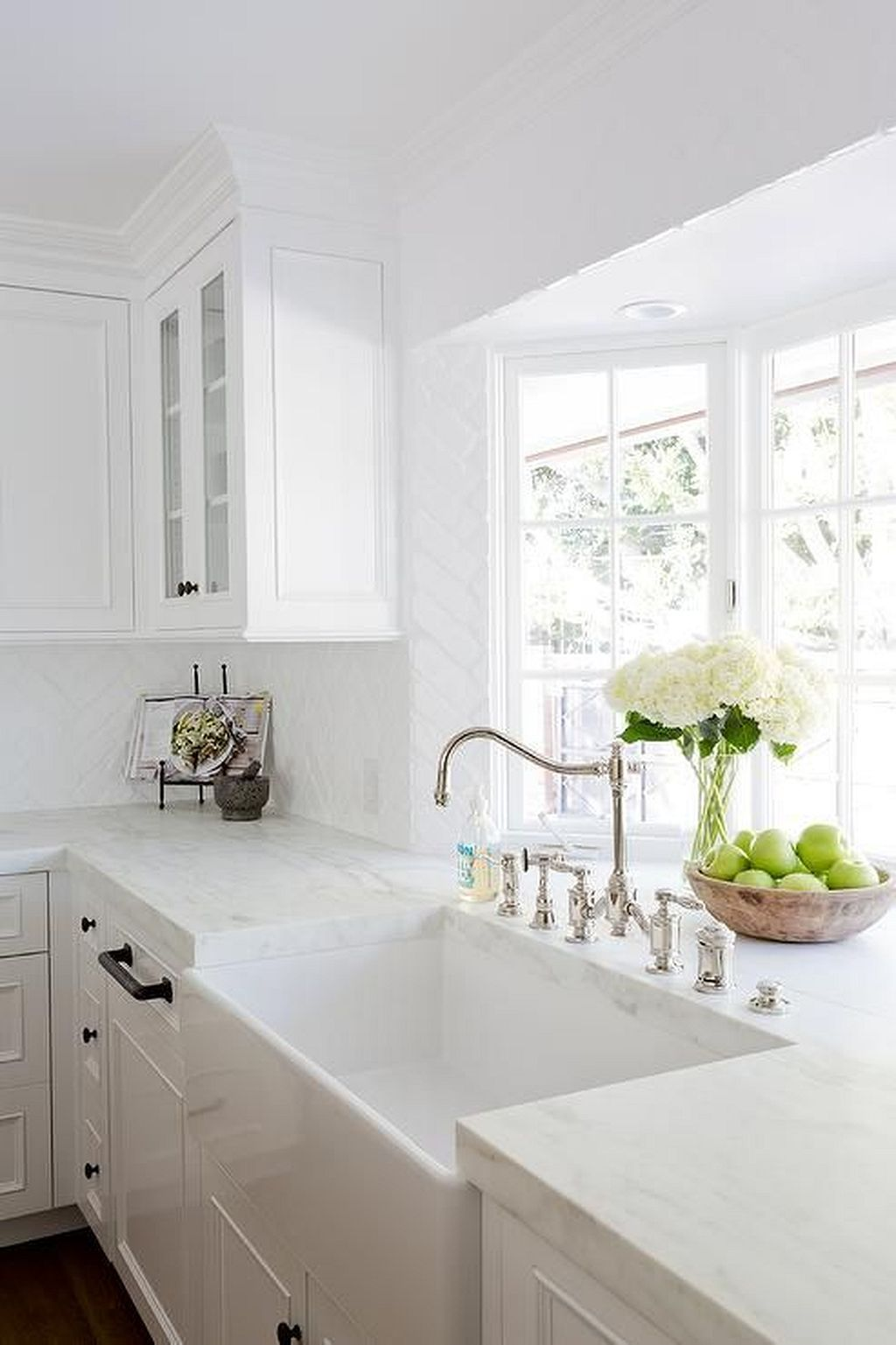 Kitchen window over sink   amazing white kitchen ideas  kitchens lights and house