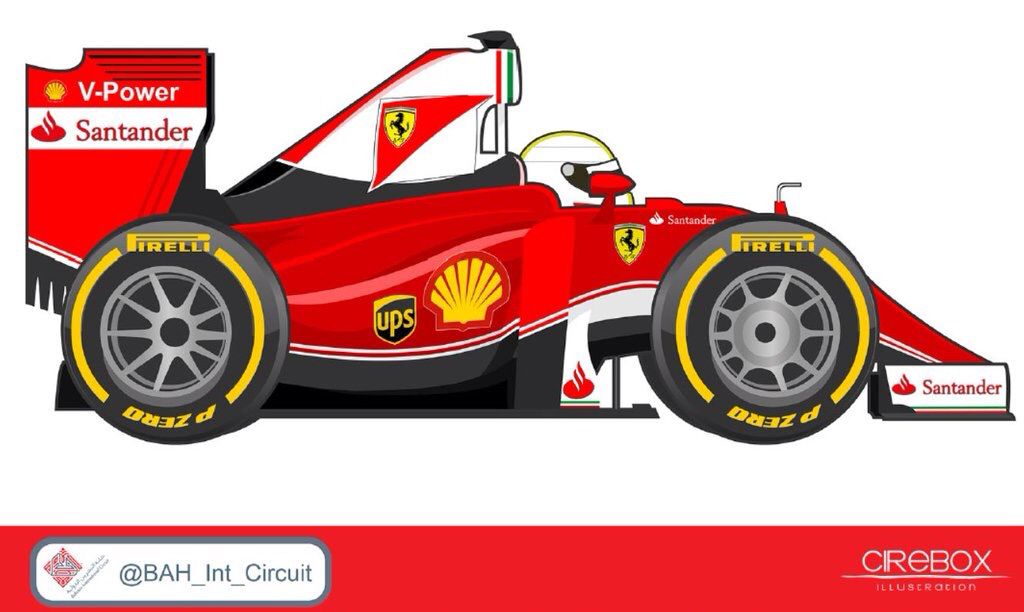 Vettel F1 Cartoon Ferrari 2016