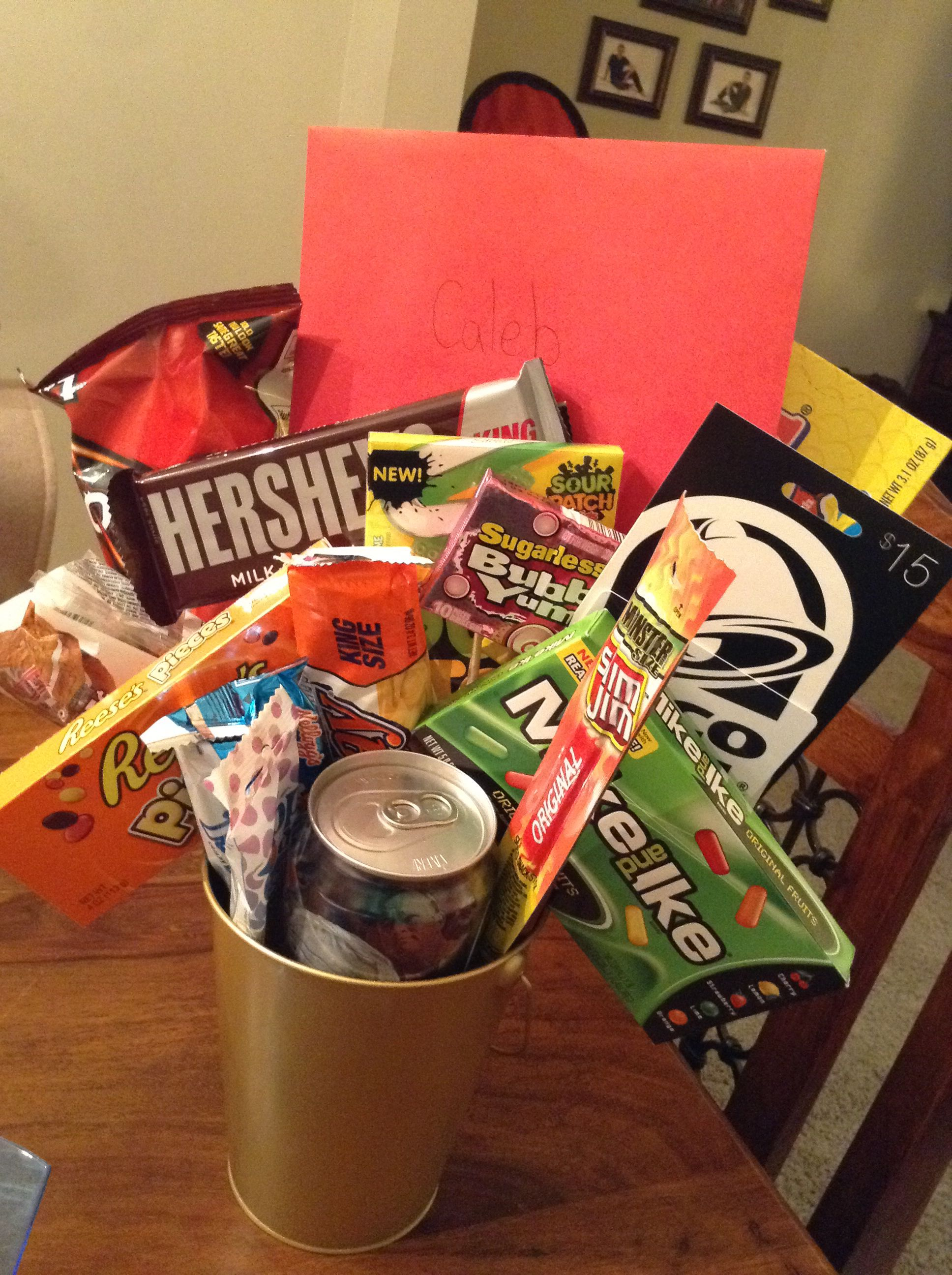 Teen Guys 15th Birthday Gift Bucket