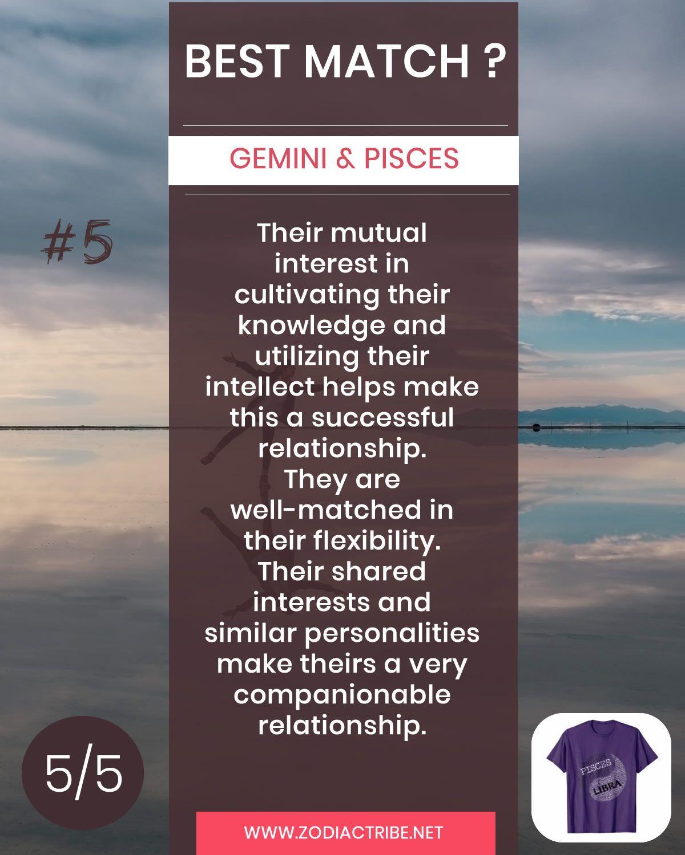 Gemini relationship pisces Gemini and