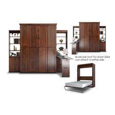 "Simplicity 104"" Queen Office Storage Murphy Bed Kit"