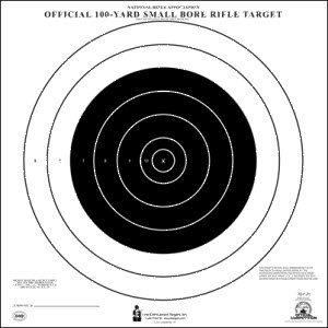 NRA 100 YARD SMALL BORE RIFLE TARGET 25 PACK -- To view