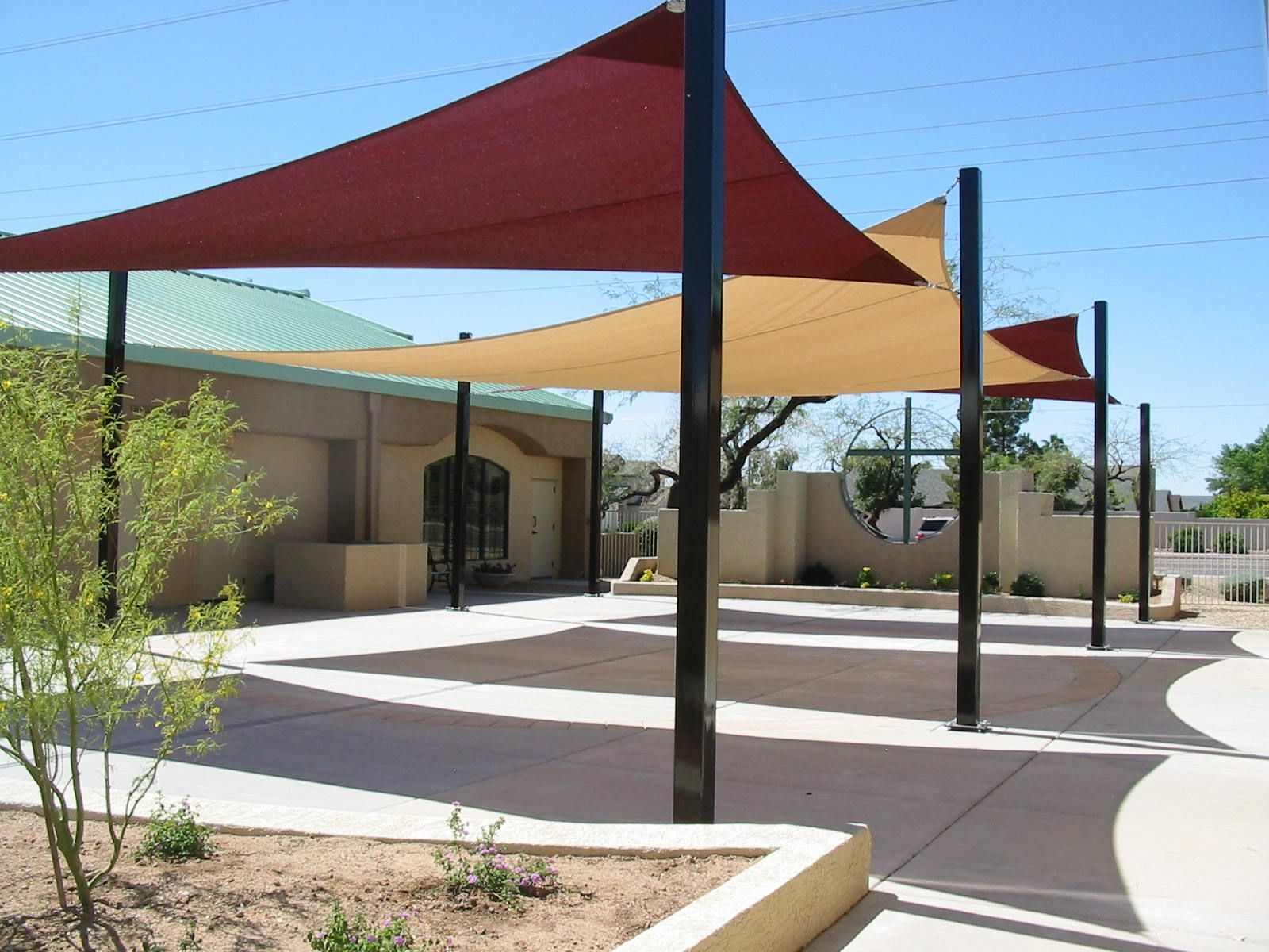 Image of sun shade sail residential patio sun shade for Sun shade structure