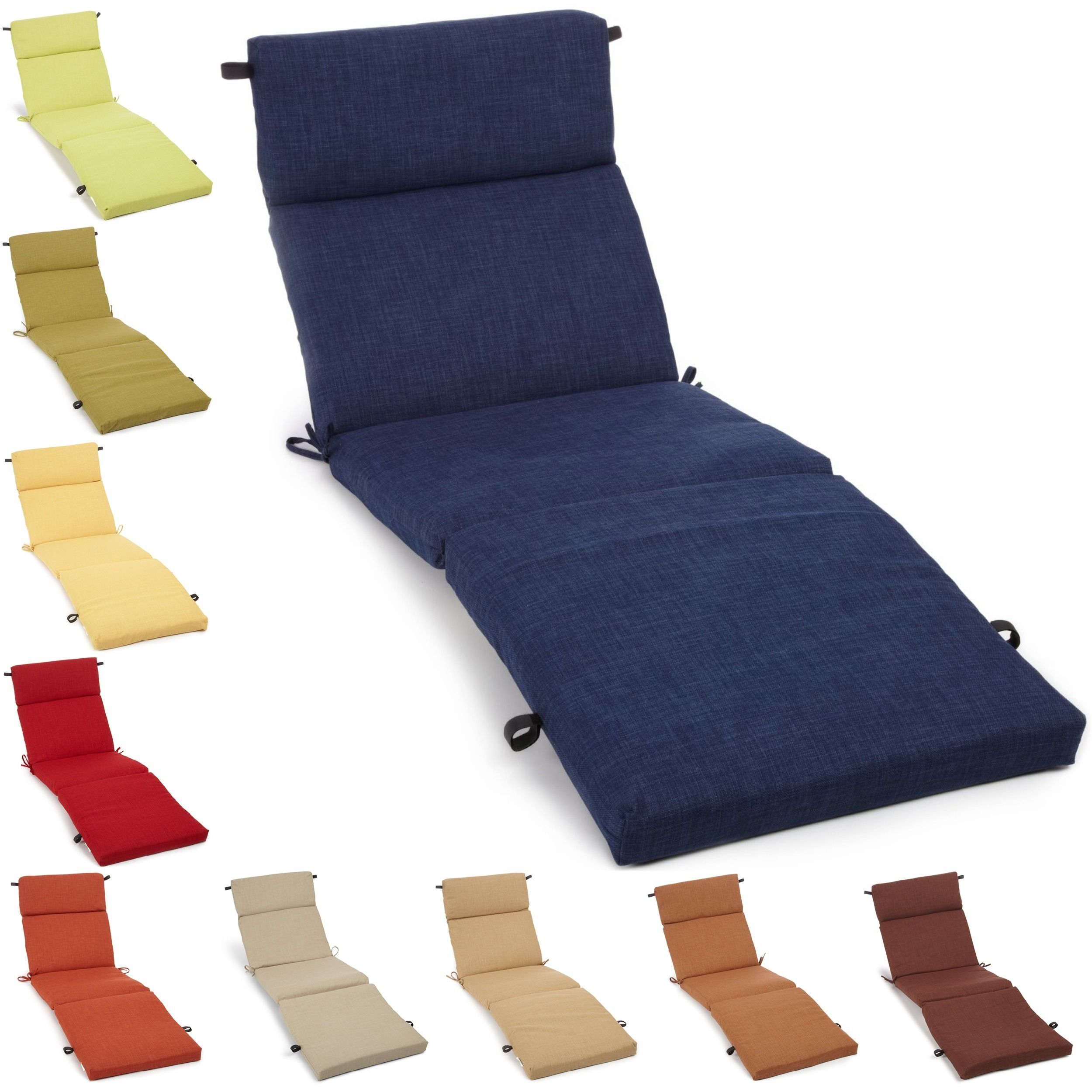 This outdoor chaise lounge cushion is a stylish and comfortable