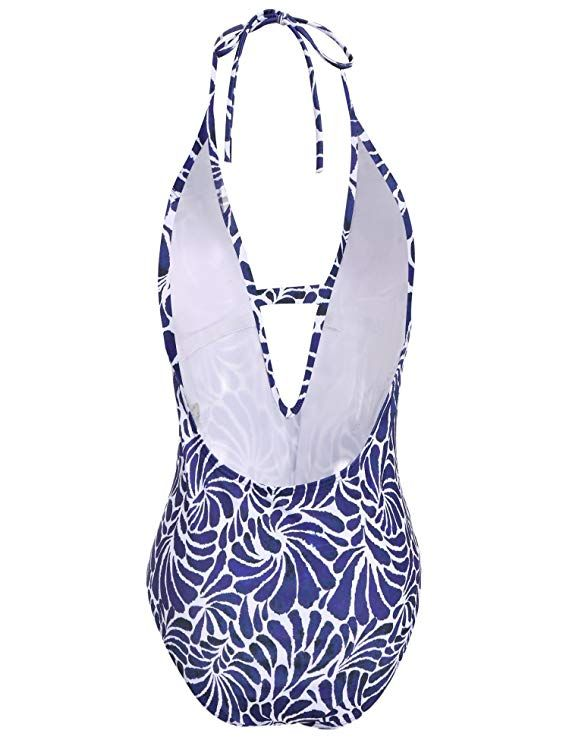 a5b265ba81b6d Ekouaer Womens One Piece Swimsuit Sexy Hollow Out V Neck Cross Back Monokini  at Amazon Women's Clothing store: