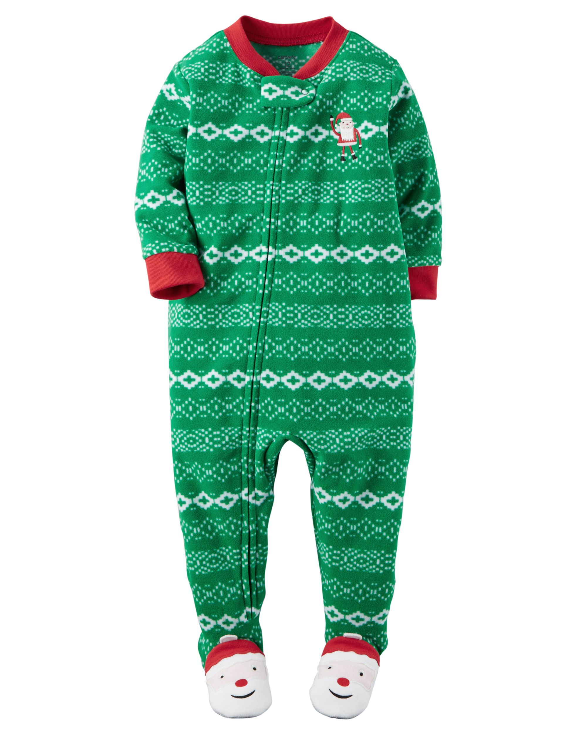 95c0bbf44f Crafted in snuggly fleece with a Fair Isle print and santa appliqués ...