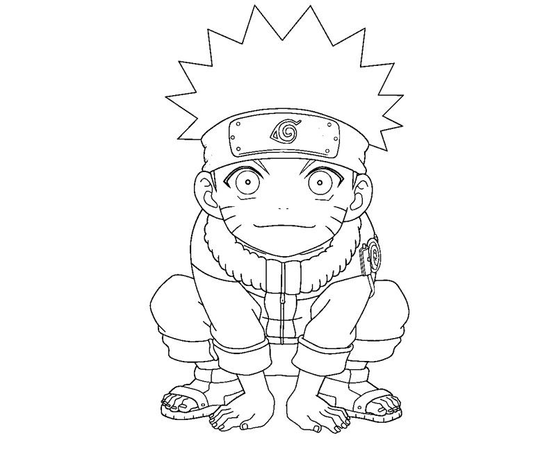 naruto coloring pages to print LineArt Chibis Pinterest Naruto