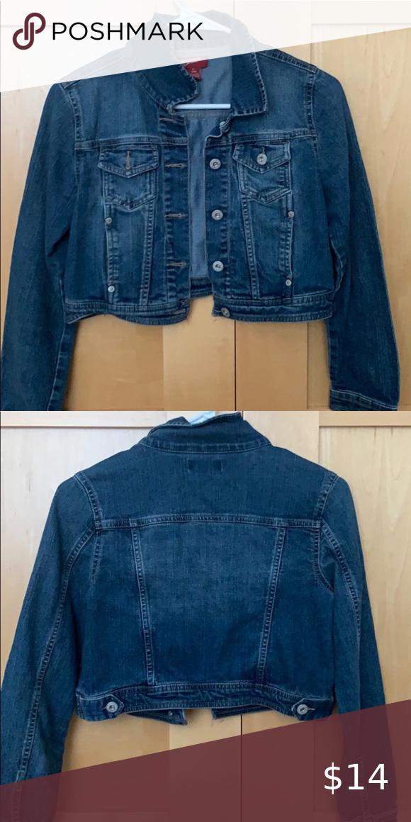Arizona Cropped Dark Wash Jean Jacket