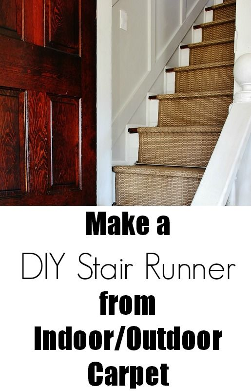 Delightful DIY: How To Install A Stair Runner   Made From Indoor/outdoor Carpet Runners