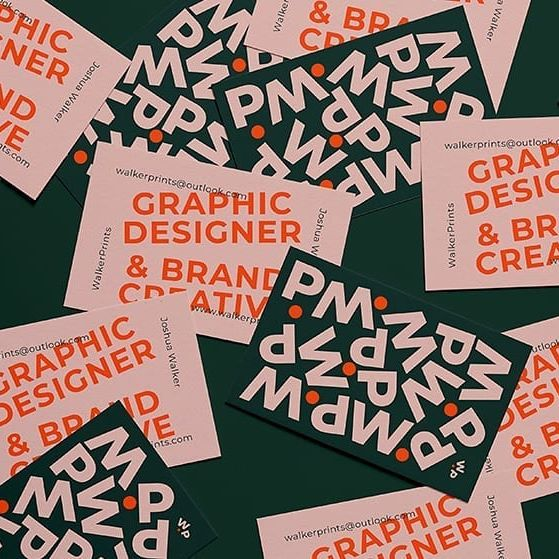 """Grafik Feed on Instagram: """"#repost @carddsgn __________________  Large typography + vibrant colours! Josh Walker at @walker_printscreated these business cards…"""""""