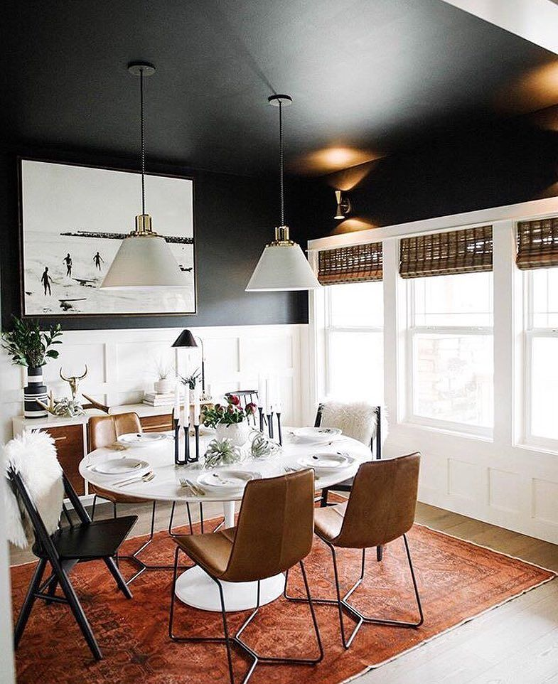 Christmas Dining Room Ideas To Add A Flourish To Christmas: When It Comes To Adding Contrast In Your Interiors, Think