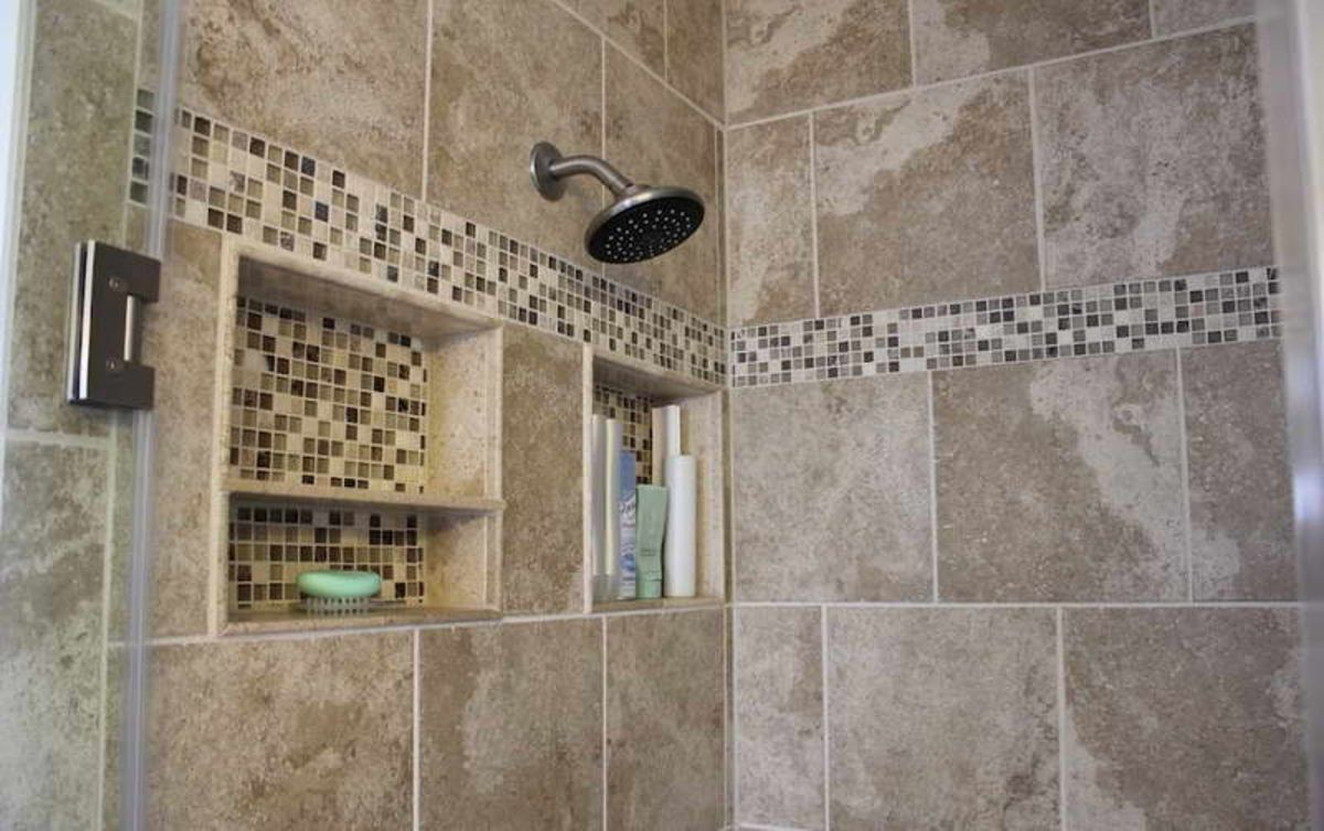 shower tile designs ideas with bottle shampoo bathroom remodel