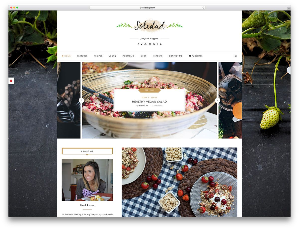 Soledad unique wordpress food blog template folio pegs pinterest soledad unique wordpress food blog template forumfinder Gallery